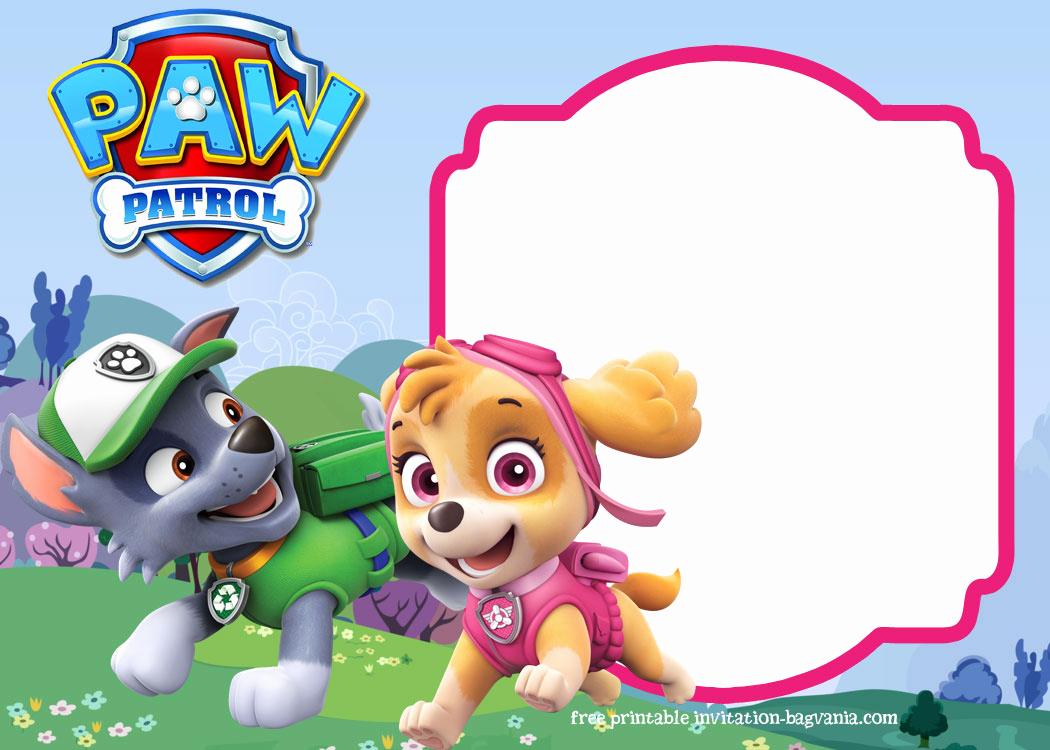 Paw Patrol Invitation Template Awesome Paw Patrol Birthday Invitation Templates – Most Plete
