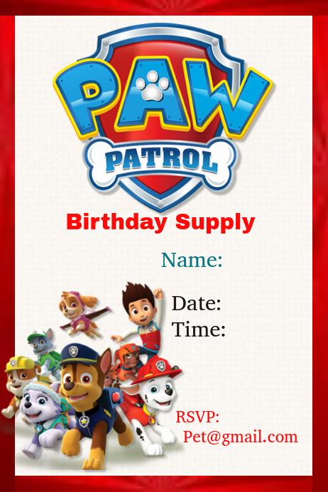 Paw Patrol Invitation Template Best Of Paw Patrol Template