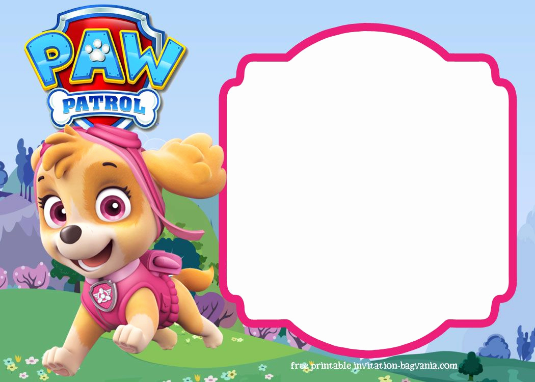 Paw Patrol Invitation Template Blank Beautiful Paw Patrol Birthday Invitation Templates – Most Plete