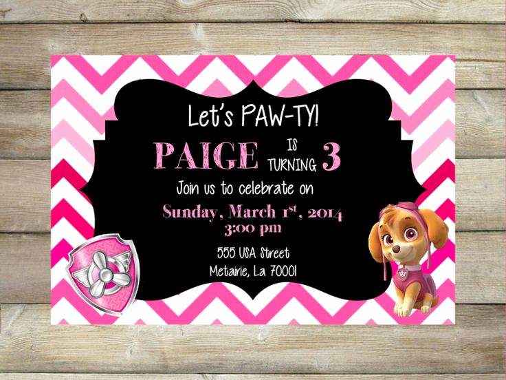 Paw Patrol Invitation Template Blank Elegant Free Printable Paw Patrol Birthday Invitation Ideas