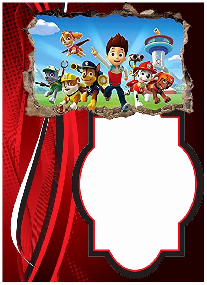 Paw Patrol Invitation Template Blank Elegant Make Printable Paw Patrol Invitations Using Free Templates