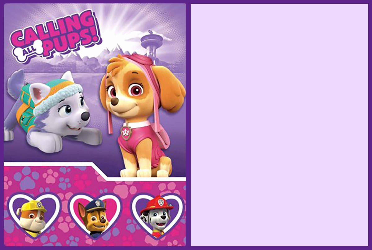 Paw Patrol Invitation Template Blank Fresh Free Printable Princess Invitation Templates