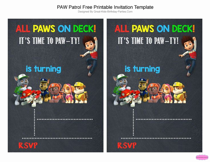 Paw Patrol Invitation Template Blank Unique Best 25 Paw Patrol Birthday Invitations Ideas On