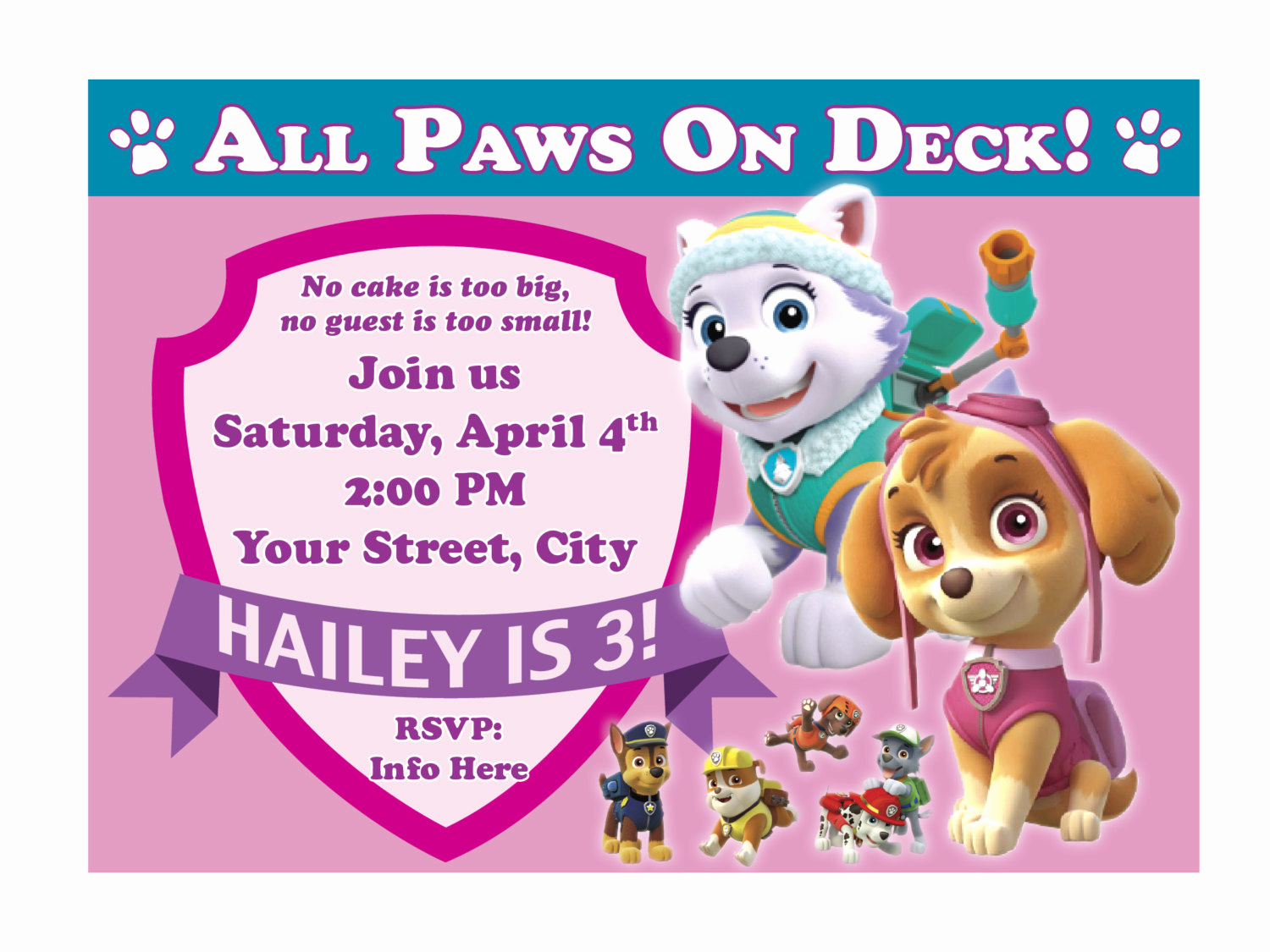 Paw Patrol Invitation Template Blank Unique Free Printable Paw Patrol Birthday Invitation Ideas