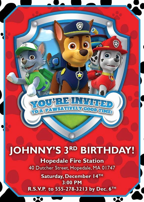 Paw Patrol Invitation Template Free Beautiful 70 Best Bryce Paw Patrol Images On Pinterest
