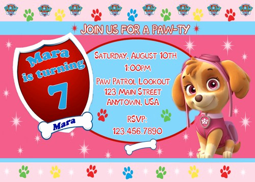 Paw Patrol Invitation Template Free Beautiful Free Printable Paw Patrol Birthday Invitation Ideas