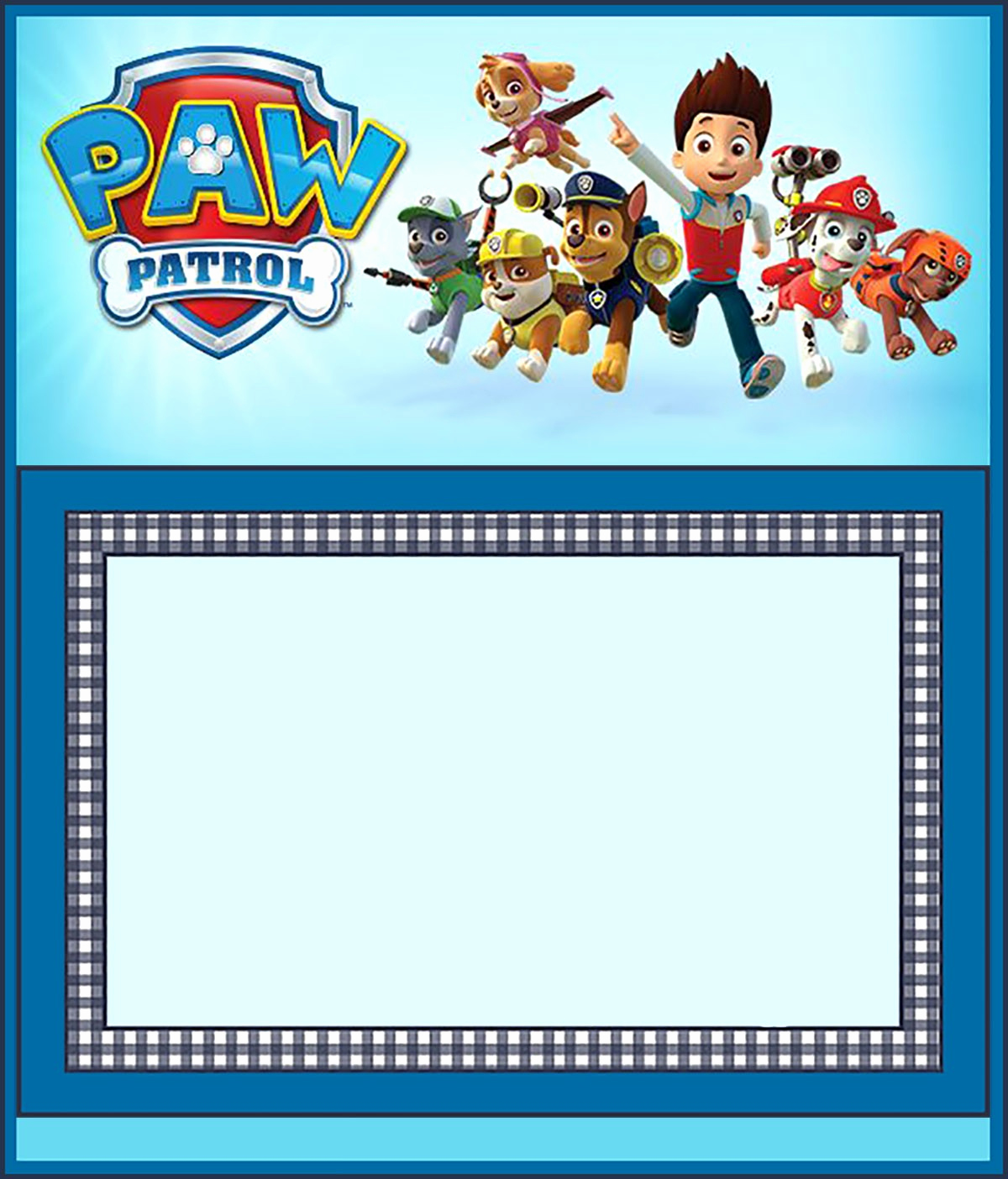 Paw Patrol Invitation Template Free Beautiful Make Printable Paw Patrol Invitations Using Free Templates