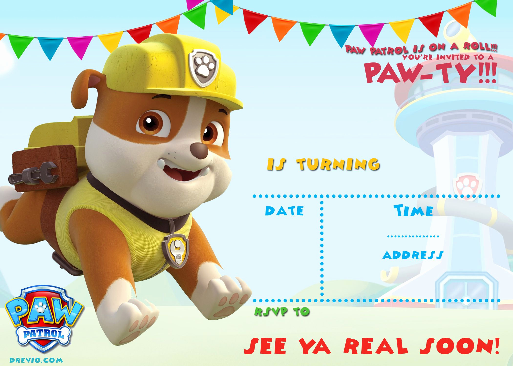 Paw Patrol Invitation Template Free Elegant Free Printable Paw Patrol Invitation Template All