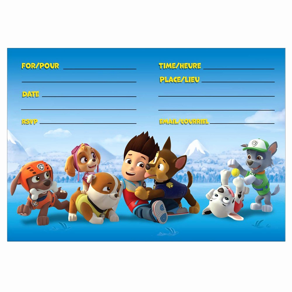 Paw Patrol Invitation Template Free Fresh 8 Pawsome Paw Patrol Birthday Invitations