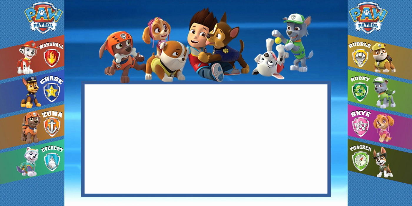 Paw Patrol Invitation Template Free Lovely Make Printable Paw Patrol Invitations Using Free Templates