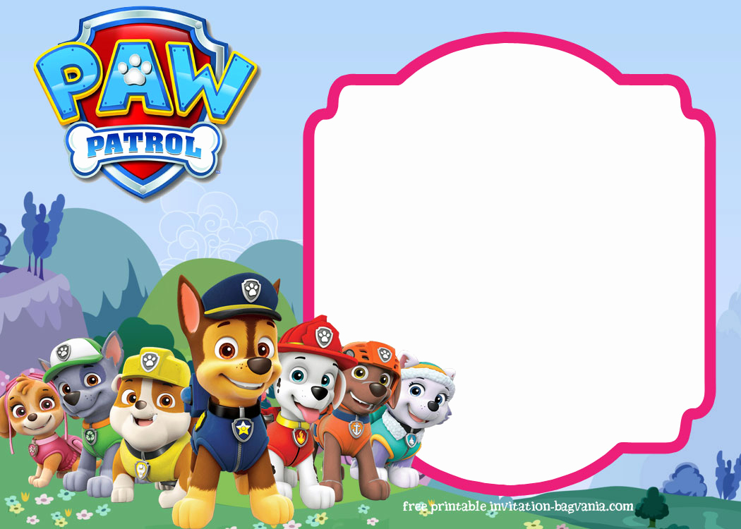 Paw Patrol Invitation Template Free Lovely Paw Patrol Birthday Invitation Templates – Most Plete