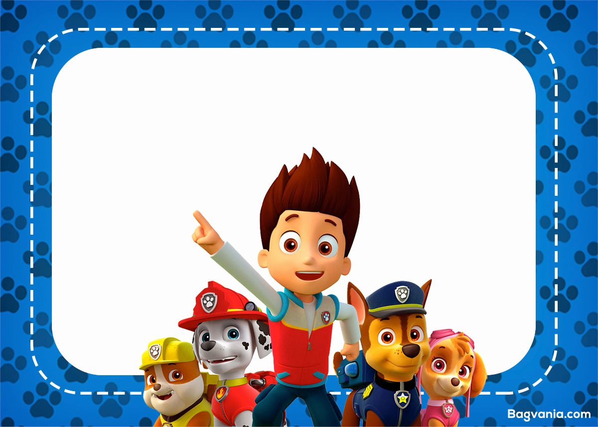 Paw Patrol Invitation Template Free New Free Paw Patrol Birthday Invitations – Free Printable