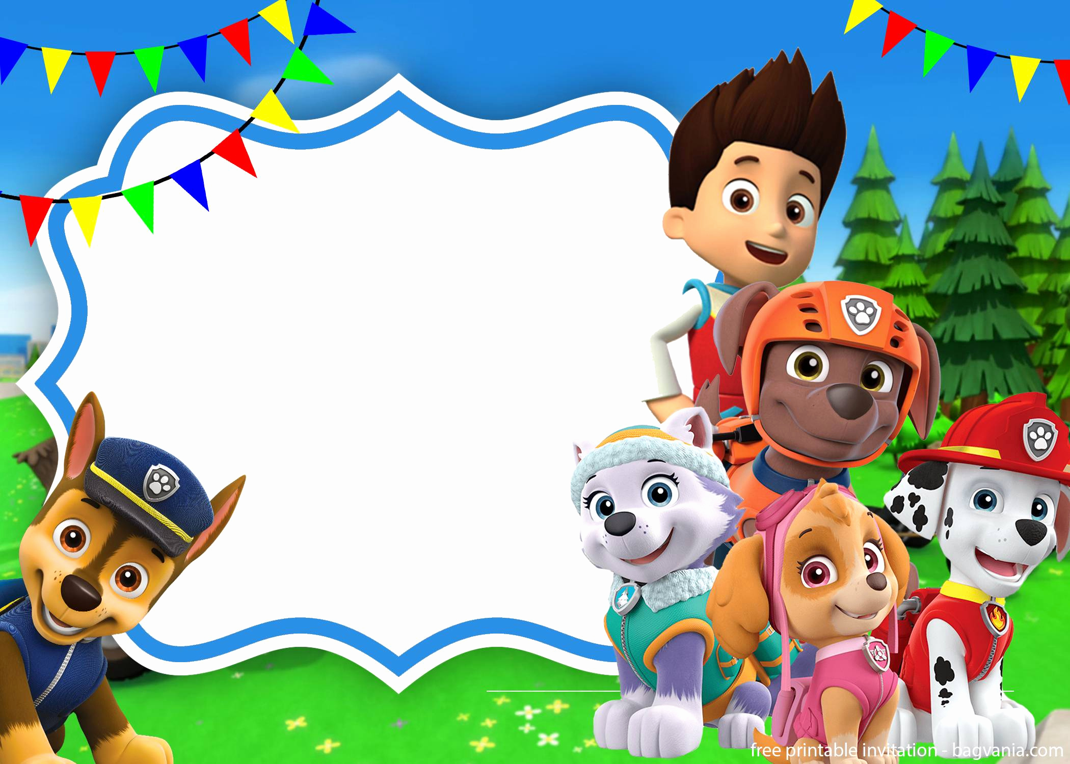 Paw Patrol Invitation Template New Paw Patrol Skye Invitation Template for Your Daughter's