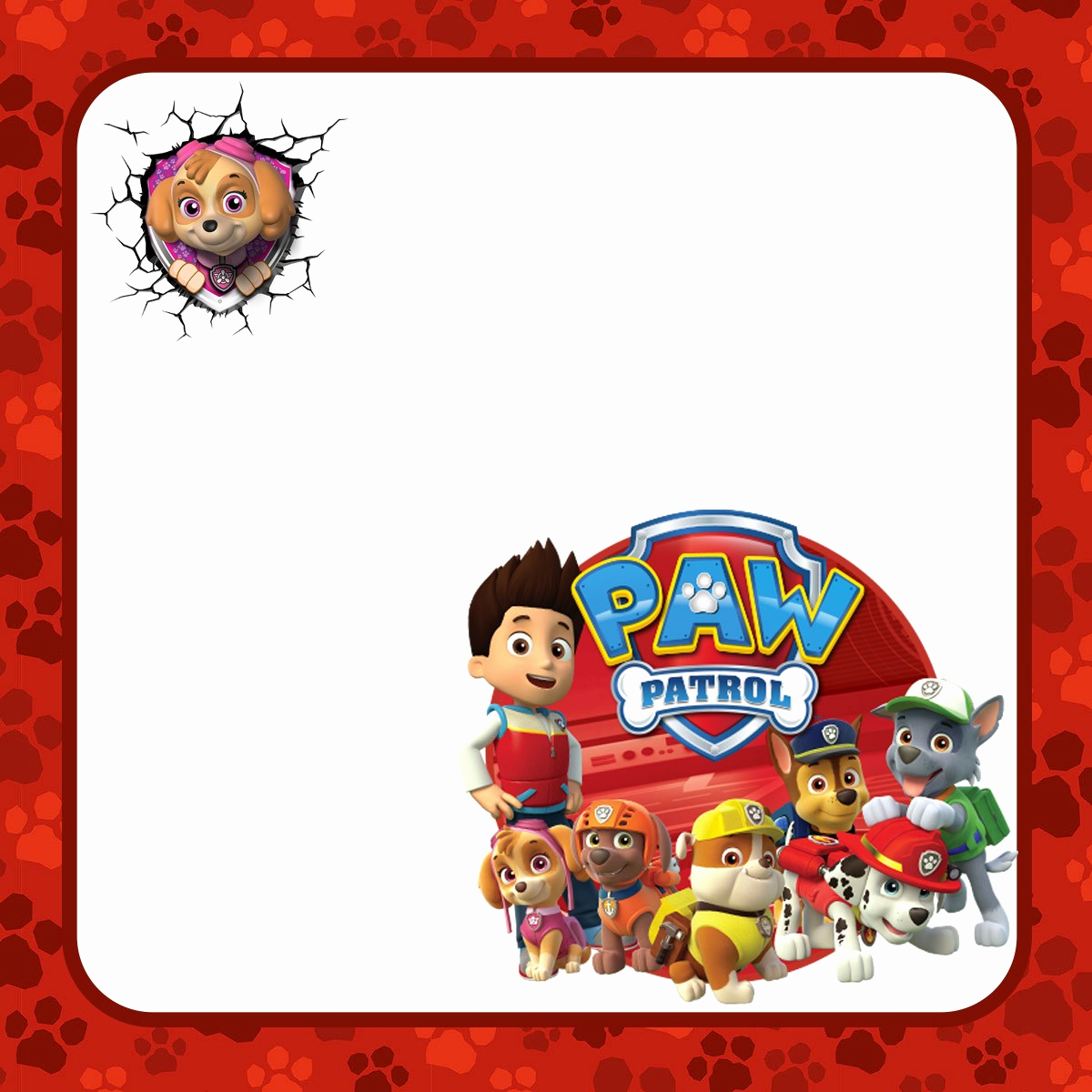 Paw Patrol Invitation Templates Awesome Make Printable Paw Patrol Invitations Using Free Templates