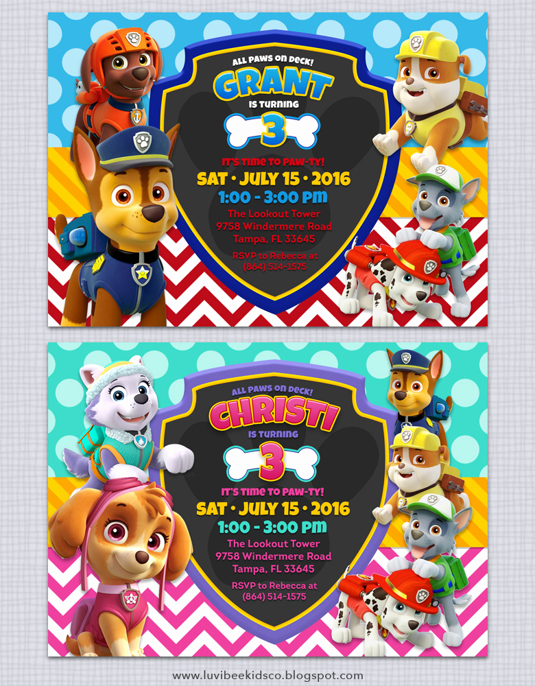 Paw Patrol Invitation Templates Beautiful Paw Patrol Birthday Invitations Free Printables