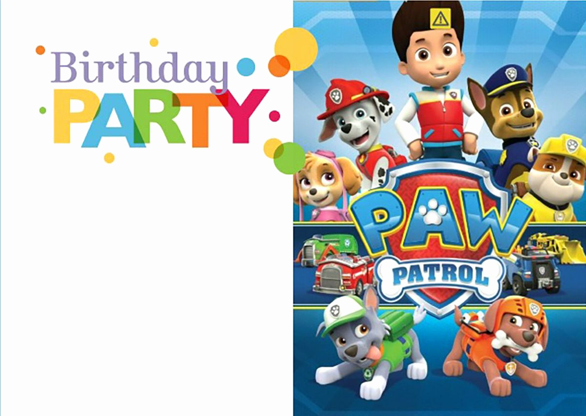 Paw Patrol Invitation Templates Elegant 8 Pawsome Paw Patrol Birthday Invitations