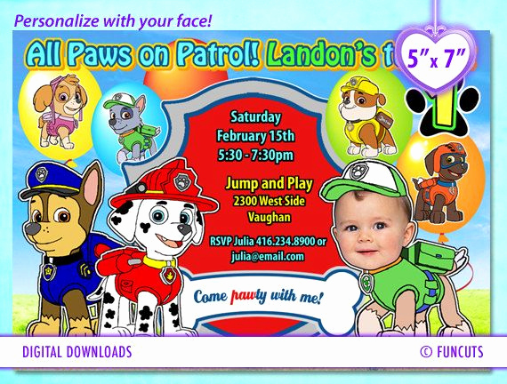 Paw Patrol Invitation Templates Inspirational Best 20 Paw Patrol Birthday Card Ideas On Pinterest