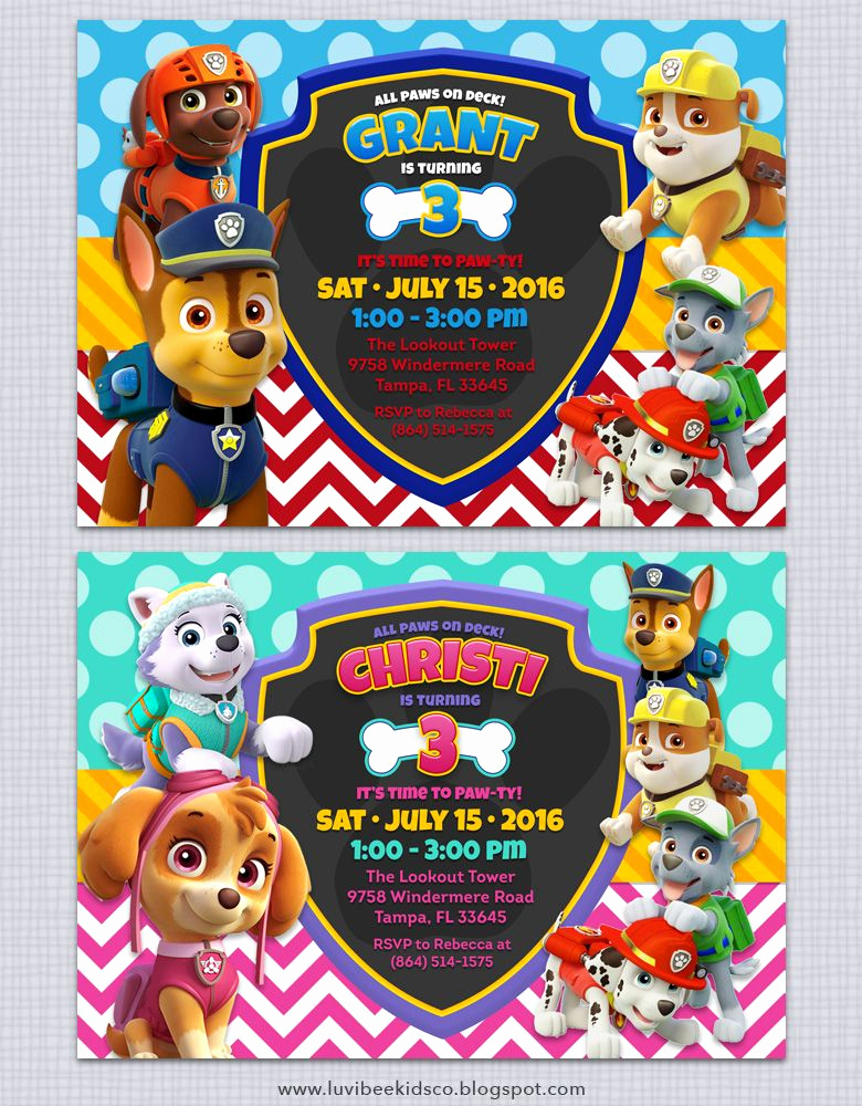 Paw Patrol Invitation Templates Inspirational Free Paw Patrol Invitation Printable Free Paw Patrol