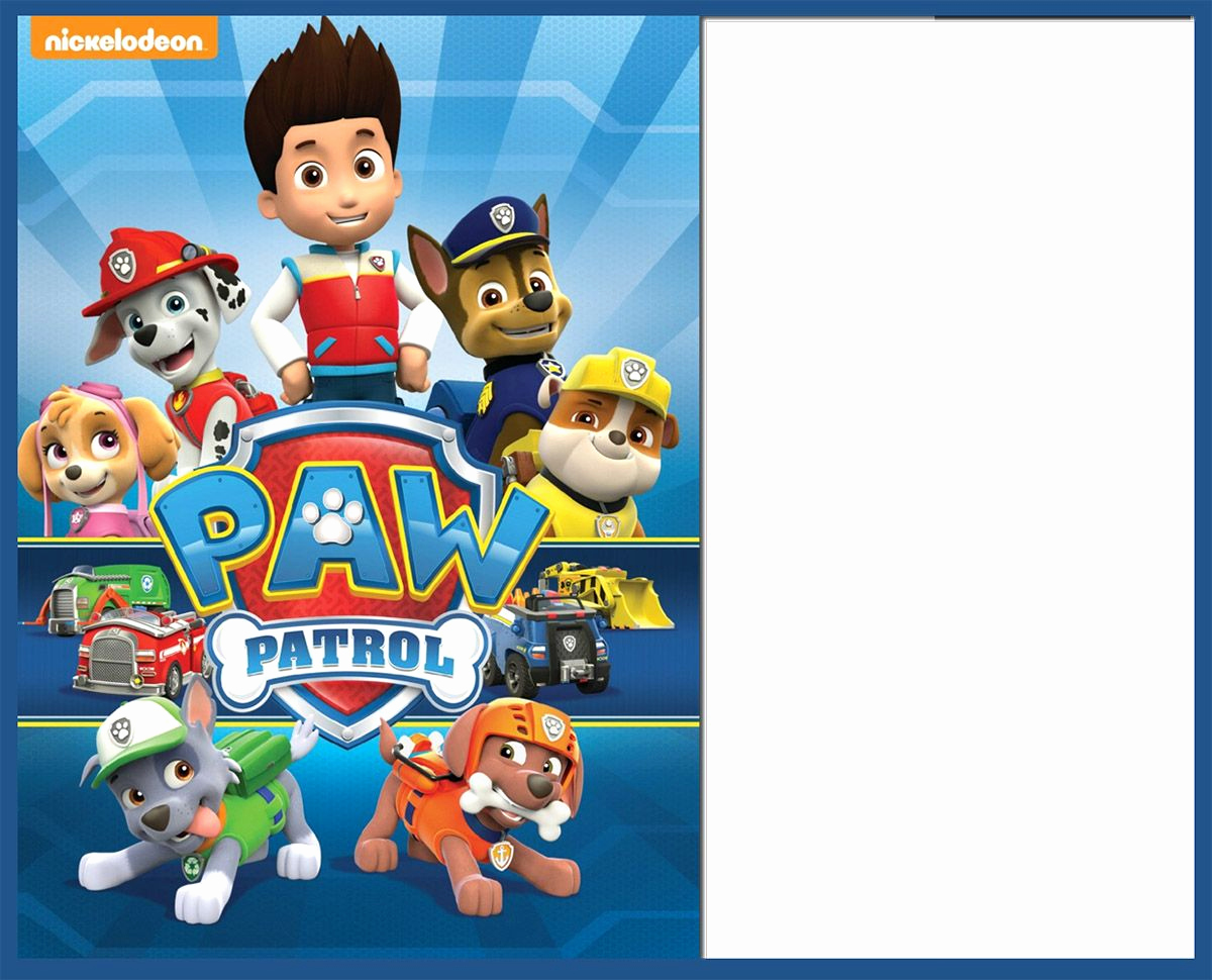 Paw Patrol Invitation Templates New 8 Pawsome Paw Patrol Birthday Invitations
