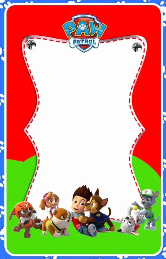 Paw Patrol Party Invitation Template Awesome 17 Best Ideas About Paw Patrol Invitations On Pinterest