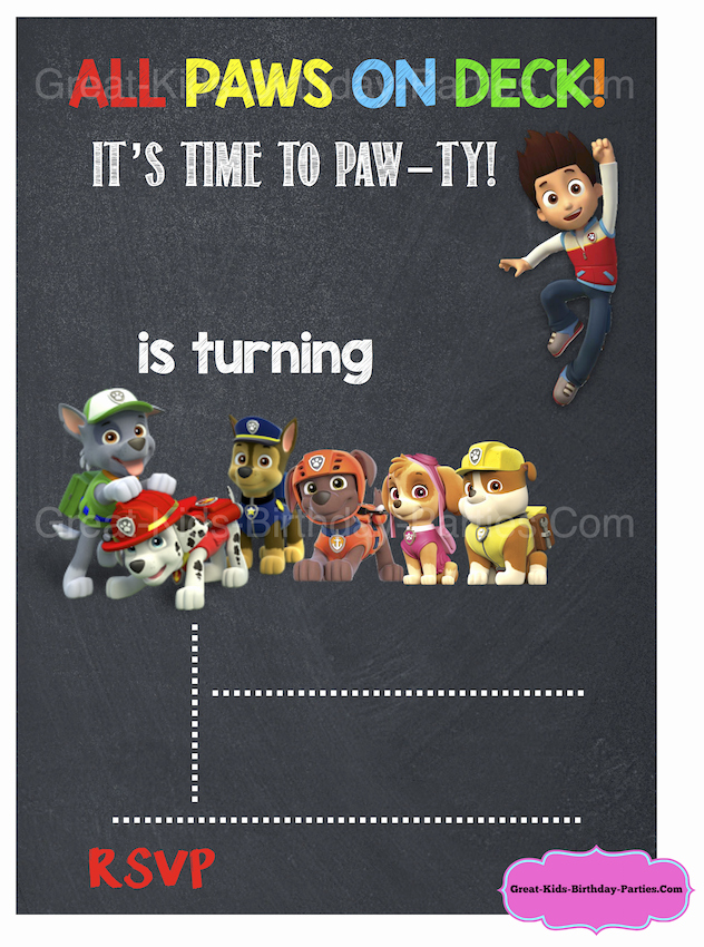 Paw Patrol Party Invitation Template Best Of Paw Patrol Birthday Paw Patrol Party