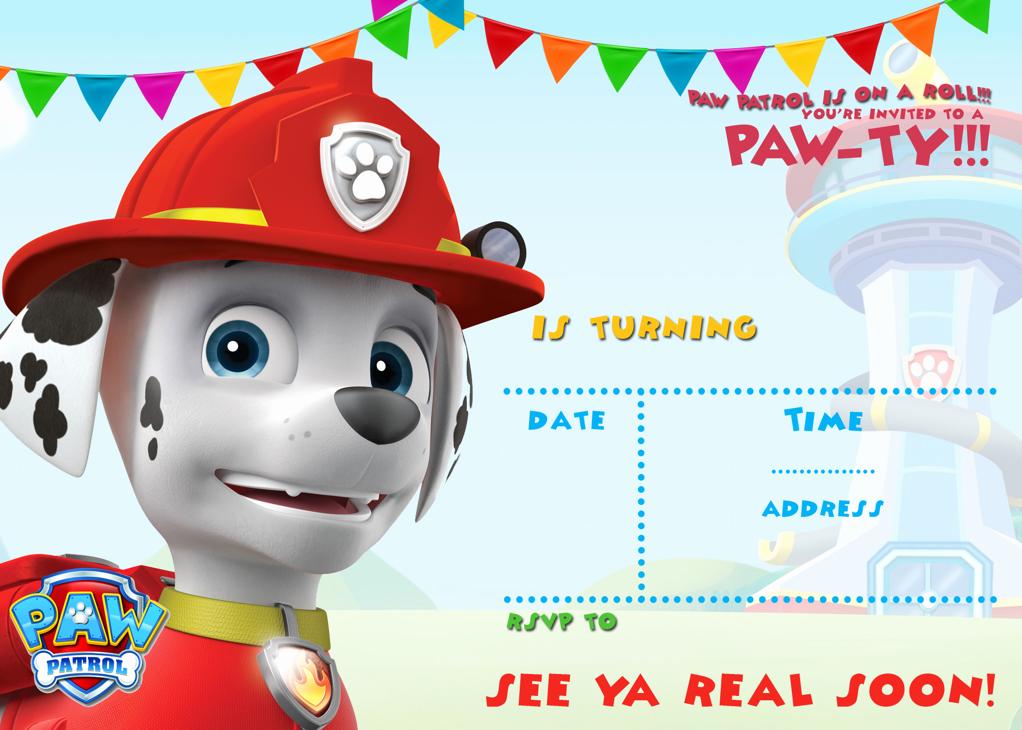 Paw Patrol Party Invitation Template Fresh Free Printable Paw Patrol Birthday Invitation Ideas