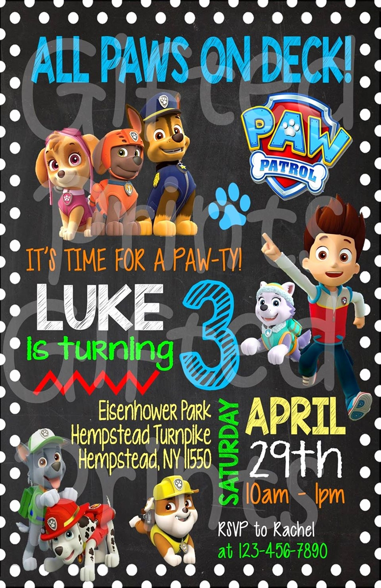 Paw Patrol Party Invitation Template Inspirational Birthday Invitation Paw Patrol theme