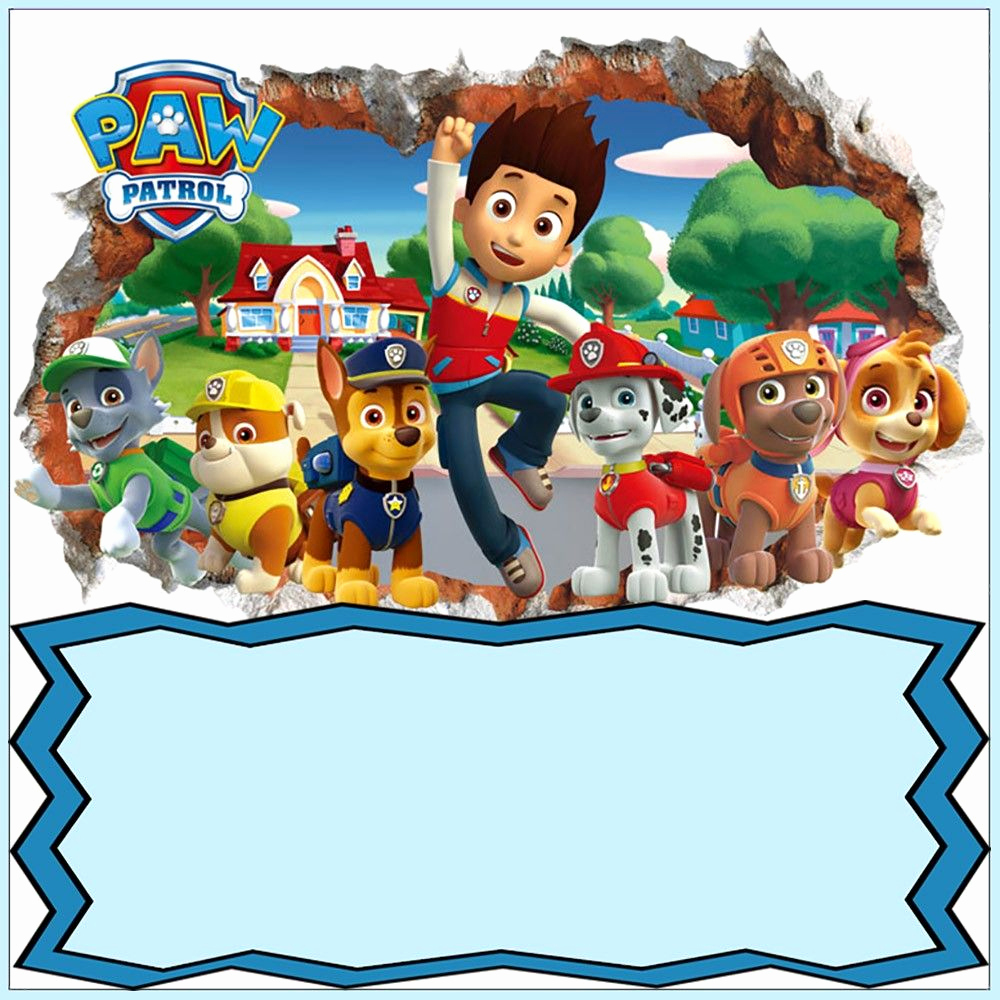 Paw Patrol Party Invitation Template Inspirational Paw Patrol Invitation Card Design
