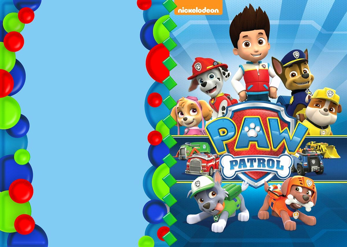 Paw Patrol Party Invitation Template Inspirational Paw Patrol Invitation Template Paw Patrol Party