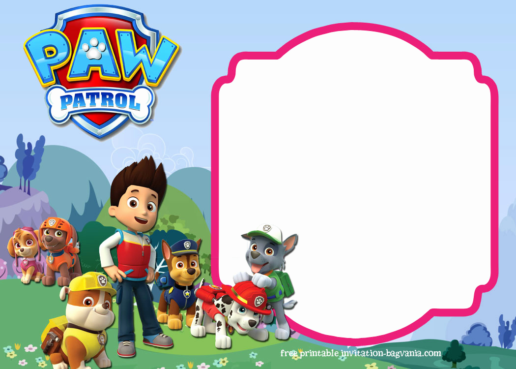 Paw Patrol Party Invitation Template New Paw Patrol Birthday Invitation Templates – Most Plete