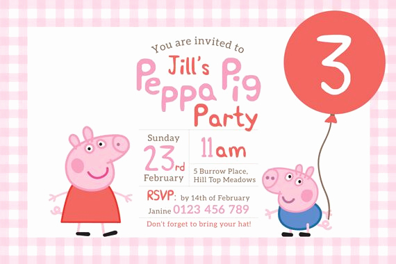 Peppa Pig Birthday Invitation Elegant the 25 Best Peppa Pig Birthday Invitations Ideas On
