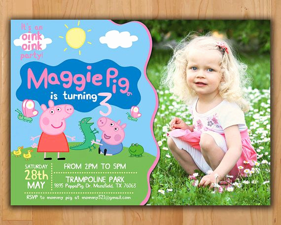Peppa Pig Birthday Invitation Fresh 25 Best Ideas About Peppa Pig Birthday Invitations On