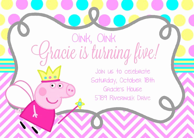 Peppa Pig Birthday Invitation Fresh Best 25 Peppa Pig Birthday Invitations Ideas On Pinterest