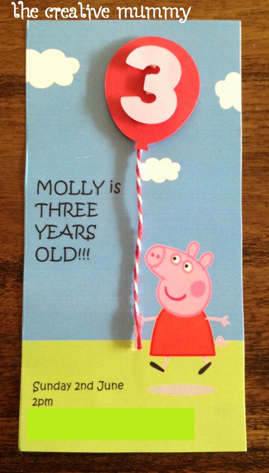 Peppa Pig Birthday Invitation Fresh Molly's Peppa Pig Party