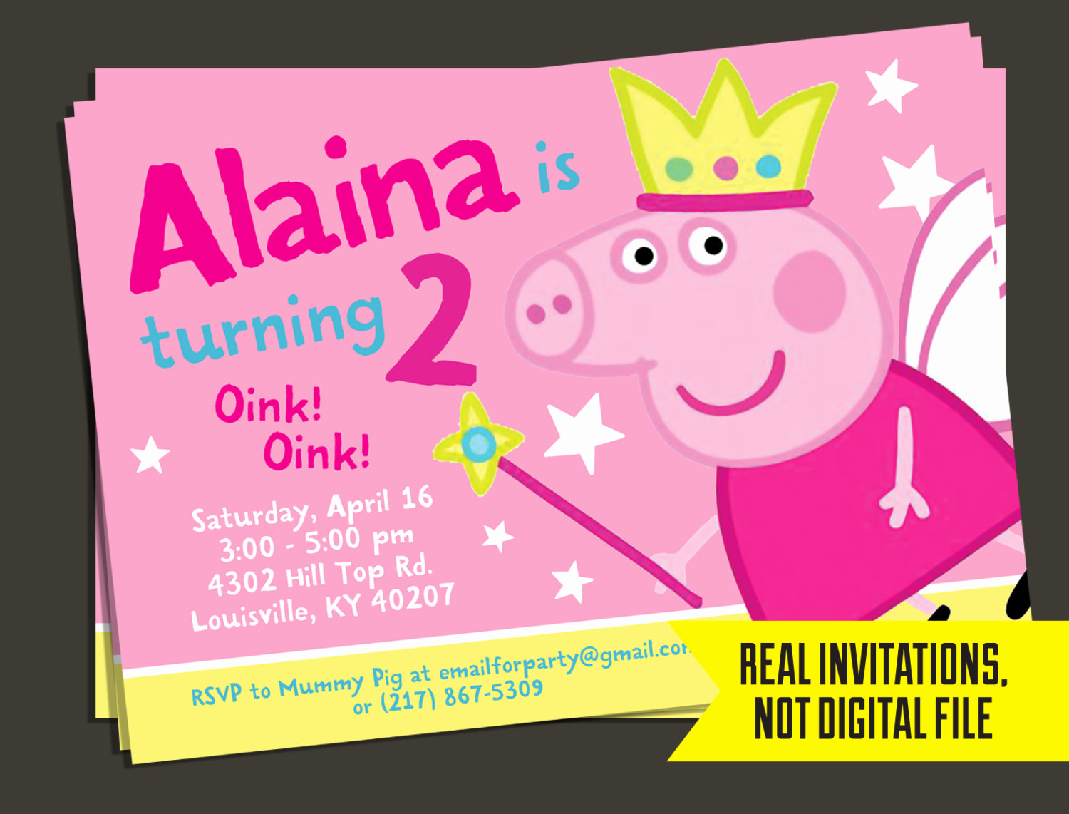Peppa Pig Birthday Invitation Lovely Peppa Pig Invitation Fairy Peppa Pig Birthday Invitation