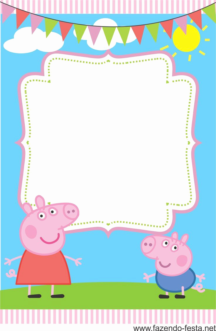 Peppa Pig Birthday Invitation Lovely Pin by Anggunstore On Invitations Templates by