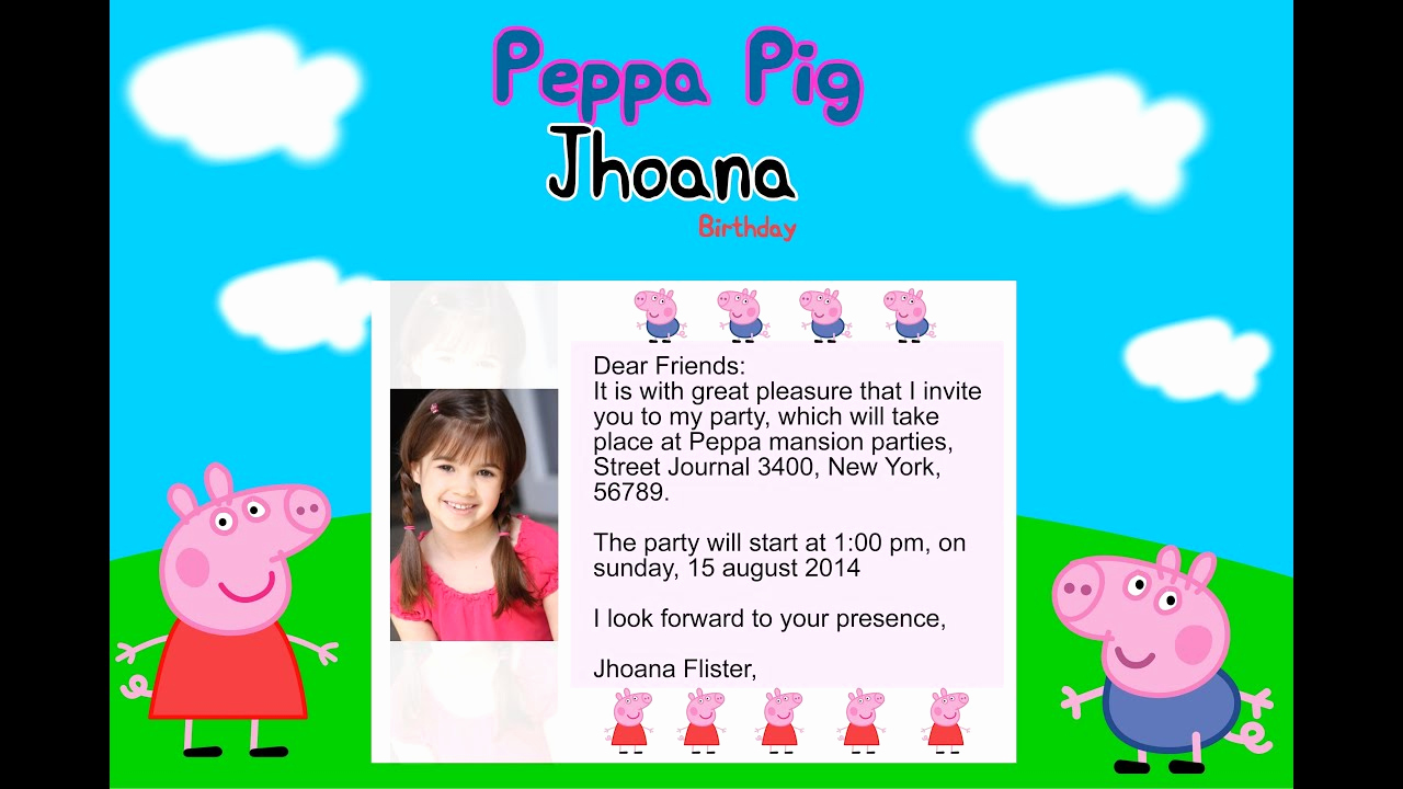 Peppa Pig Birthday Invitation New How to Create Birthday Party Invitations Peppa Pig