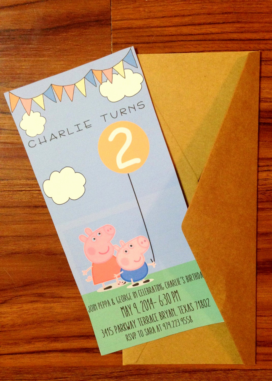 Peppa Pig Birthday Invitation New Peppa Pig Birthday Invitation with Envelopes Quantity 30