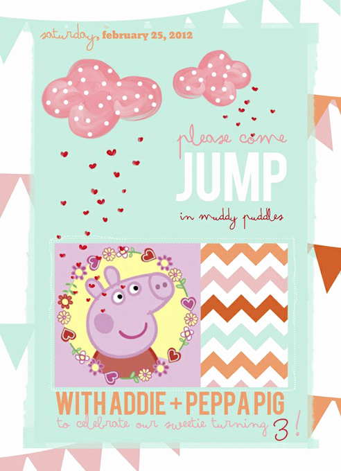 Peppa Pig Birthday Invitation Unique Bn Black Book Of Parties Peppa Pig Party A Blissful Nest