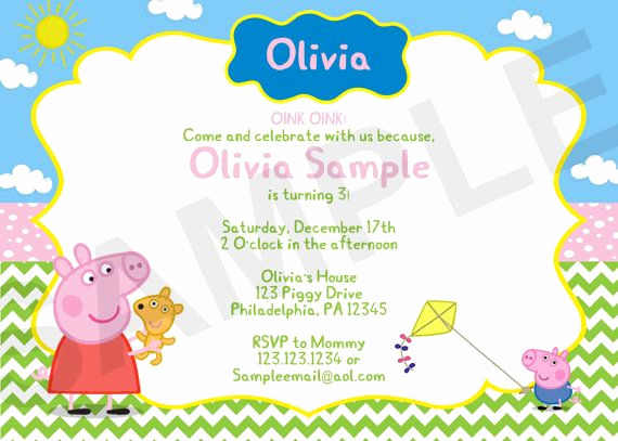 Peppa Pig Invitation Template Beautiful 23 Best Peppa Party Images On Pinterest