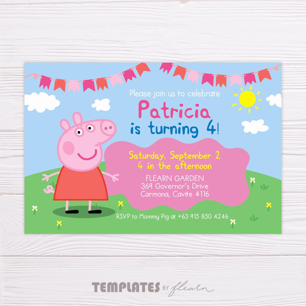 Peppa Pig Invitation Template Beautiful Peppa Pig Invitation – Flearn Ph