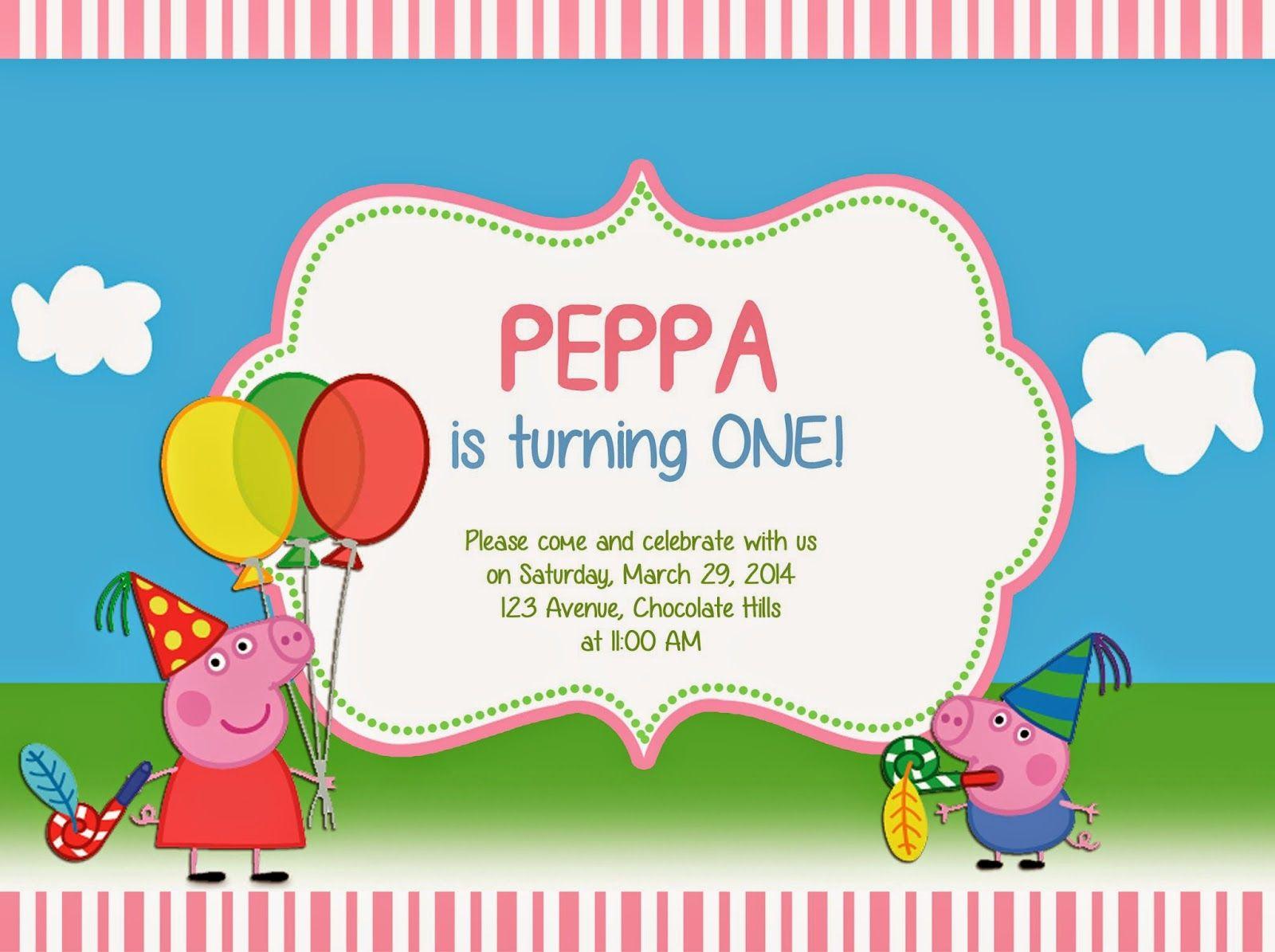 Peppa Pig Invitation Template Best Of Peppa Pig De Vania Yarith Para
