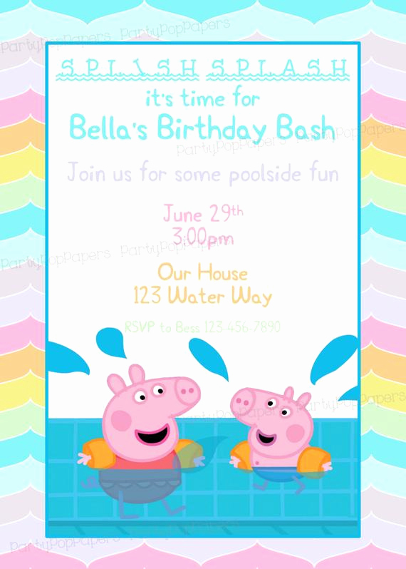Peppa Pig Invitation Template Free Awesome Peppa Pig Printable Birthday Invitation