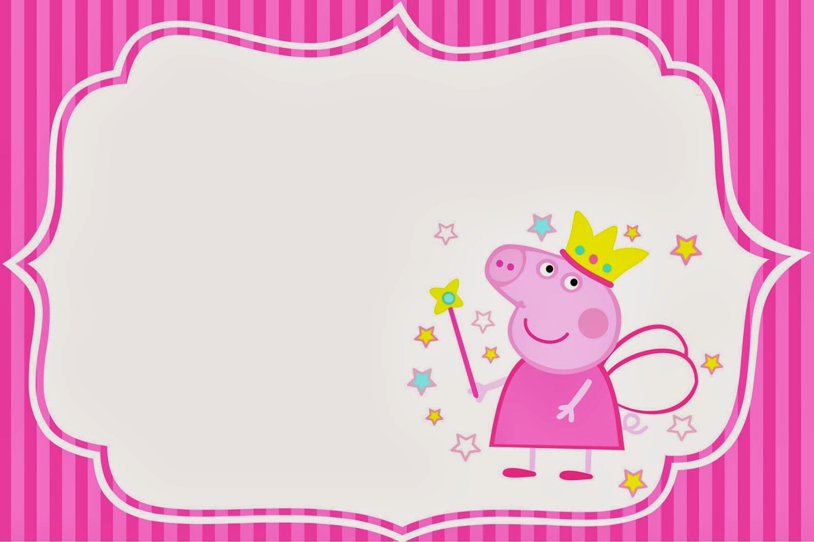 Peppa Pig Invitation Template Free Beautiful Peppa Pig Fairy Invitations and Free Party Printables