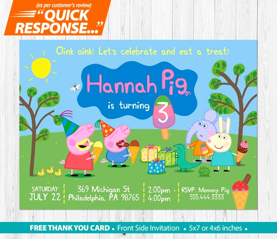 Peppa Pig Invitation Template Free Best Of Peppa Pig Ice Cream Invitation Peppa Pig Invitation Peppa