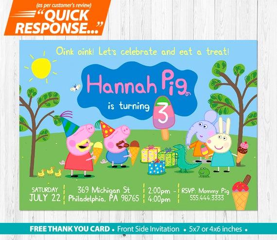 Peppa Pig Invitation Template Free Best Of Peppa Pig Ice Cream Invitation Peppa Pig Invitation Peppa