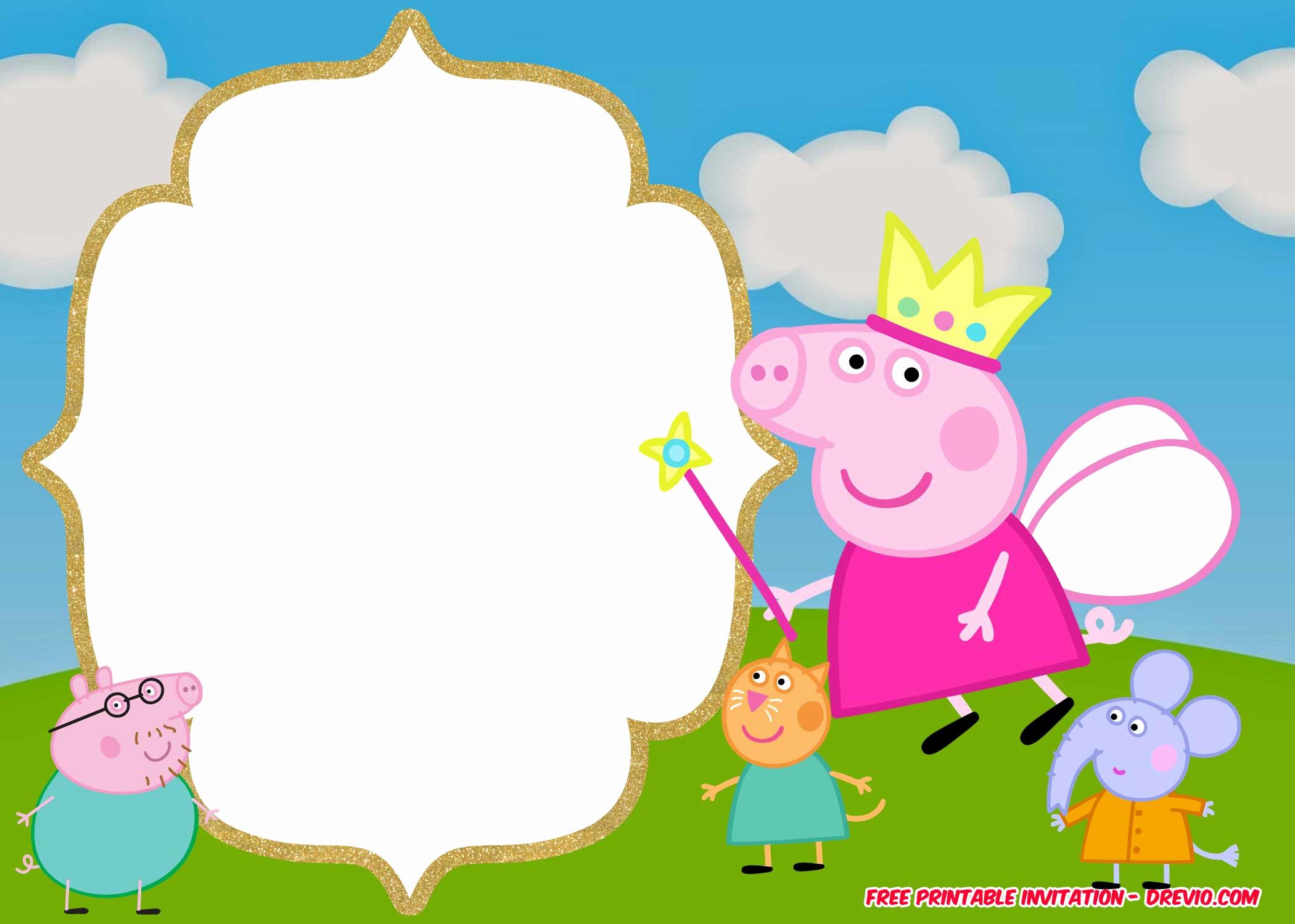 Peppa Pig Invitation Template Free Elegant Free Printable Peppa Pig Invitation Birthday Templates