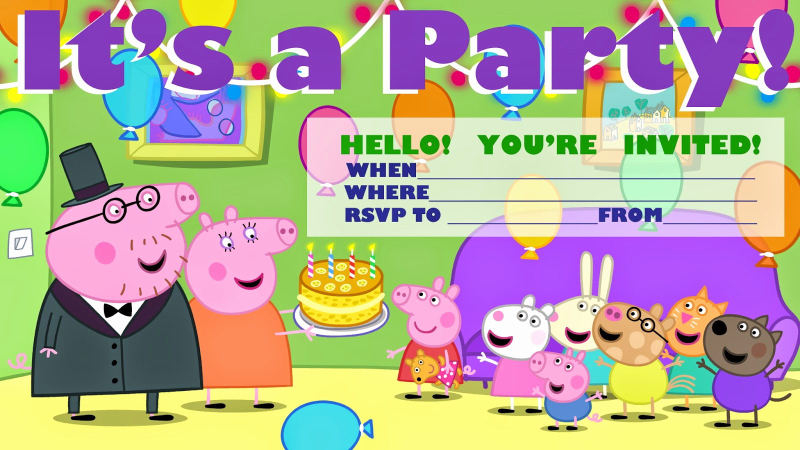 Peppa Pig Invitation Template Free Elegant Invitations for Sleepover Party Peppa Pig Party