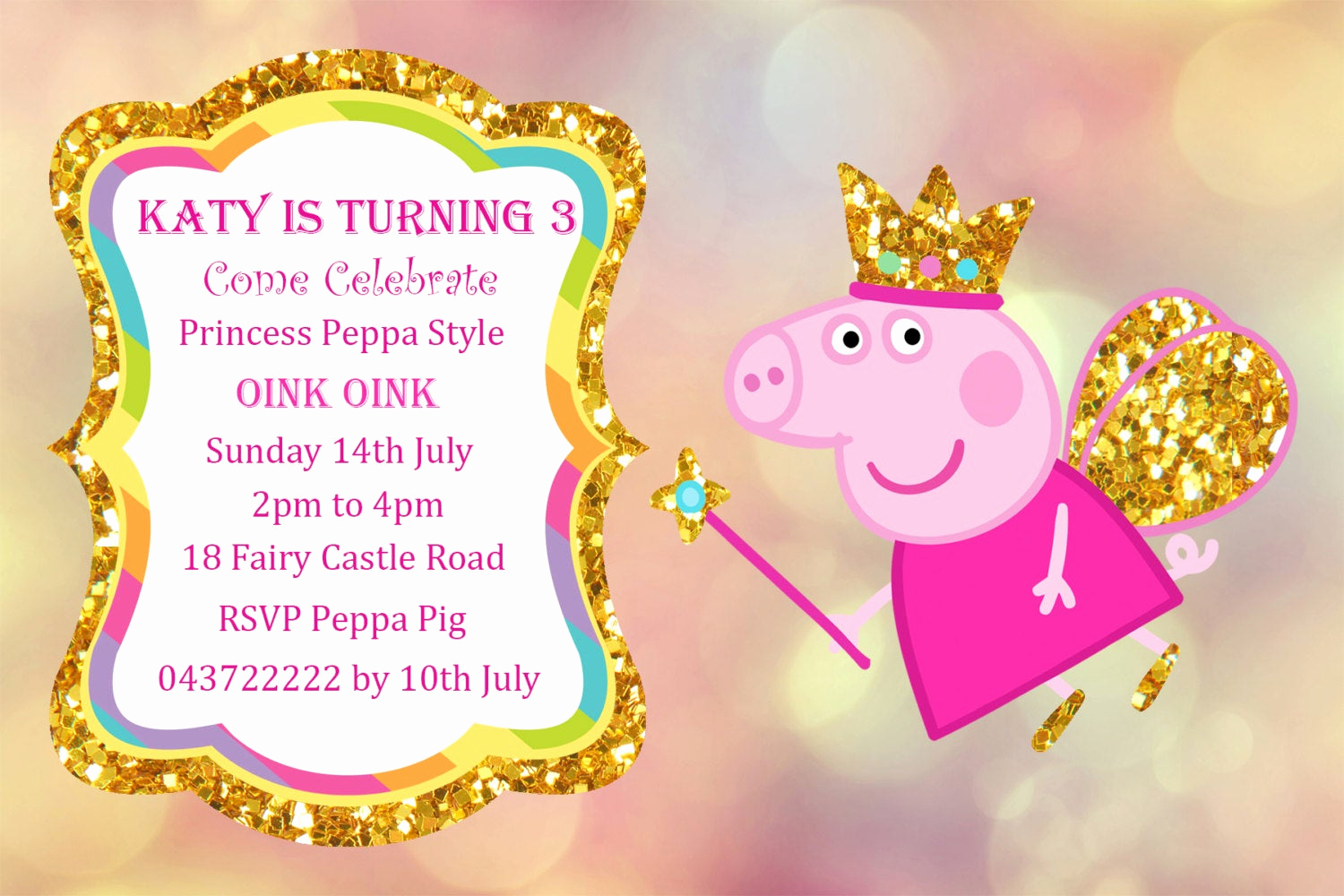 Peppa Pig Invitation Template Free Fresh Peppa Pig Invitation Personalized Peppa Pig Printable