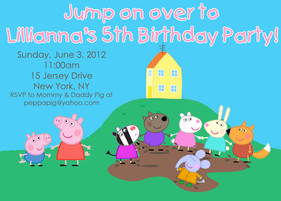 Peppa Pig Invitation Template Free Fresh Peppa Pig Muddy Puddles Party Invitation Jumping Jax